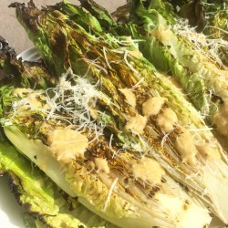 Grilled Caesar Salad with Homemade Vinaigrette