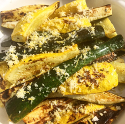 Grilled Zucchini and Squash with Lemon Salt