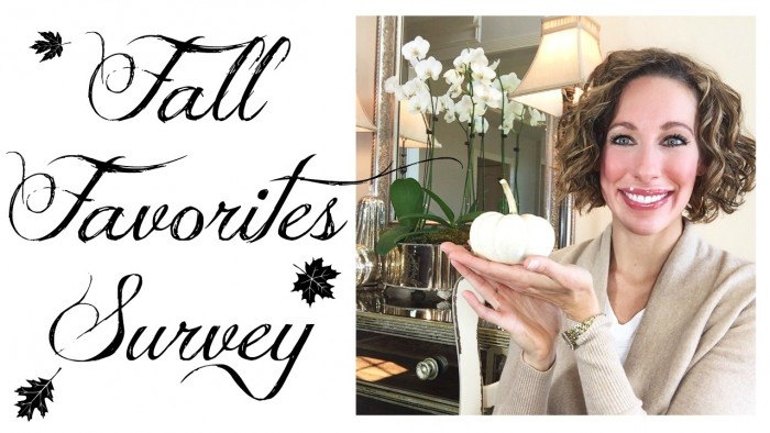 Fall Favorites Survey